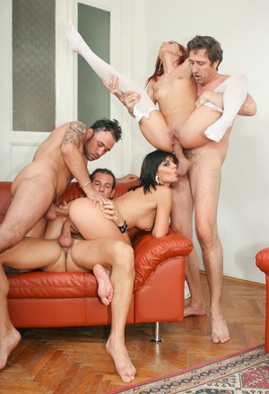 mature anal orgy