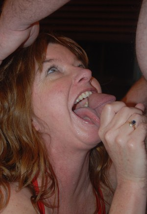 Mature cum in the mouth