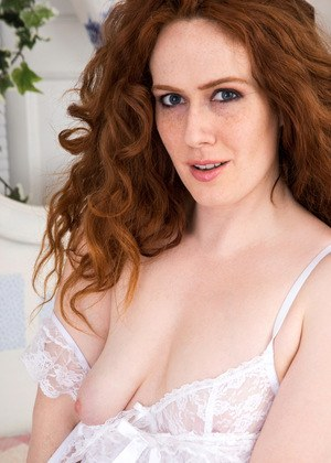 Hot big titted redhead sabrina lezzes out