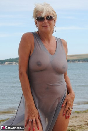 holiday beach Nude mature