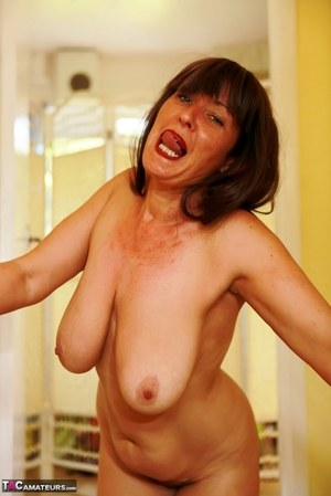 Mature pointy tits