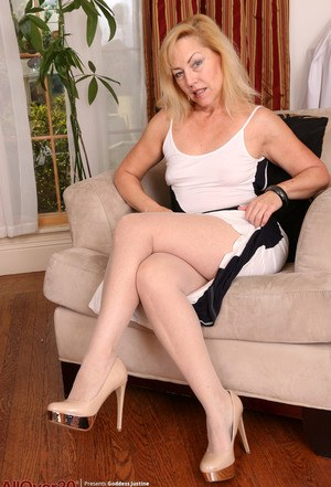 Think, mature pantyhose leg picture