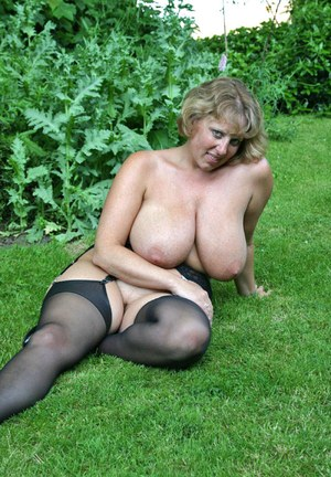 Mature blonde panties